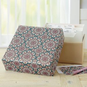 Mosaic Patterns Greeting Card Organizer Box