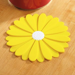 Yellow Silicone Flower Hot Pad Trivet