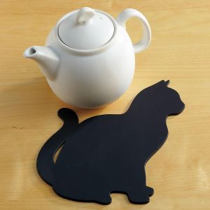 Black Cat Silicone Trivet