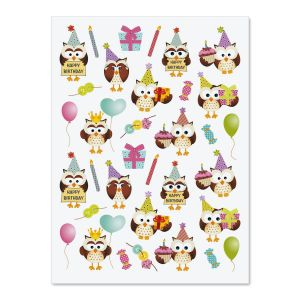 Owl Party Stickers