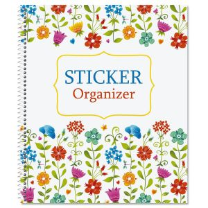 Colorful Flowers Sticker Organizer Book