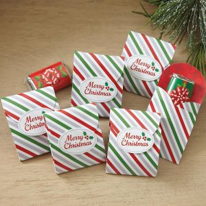 Christmas Fold-up Candy Holders with Seals