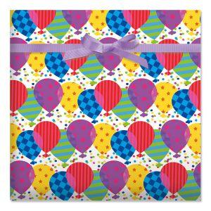 Pattern Balloons Jumbo Rolled Gift Wrap