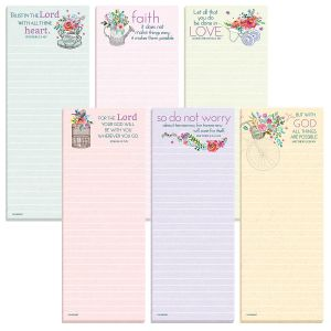 Inspirational Lined Magnetic Shopping List Pads