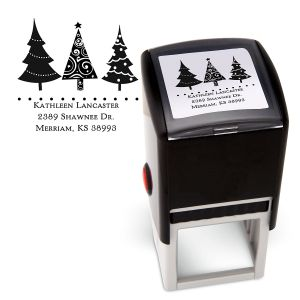 Christmas Trees Square Stamper