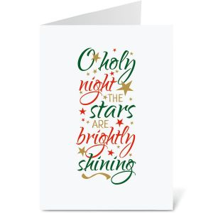 O Holy Night Religious Christmas Cards
