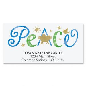 Peace Deluxe Address Labels