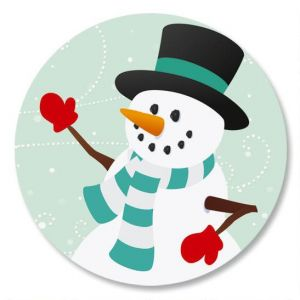 Snowy Holiday Envelope Sticker Seals