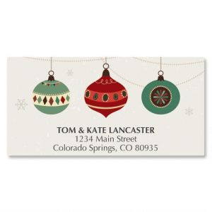 Ornament Trio Deluxe Address Labels