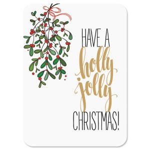 Under the Mistletoe Nonpersonalized Christmas Cards - Set of 18