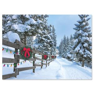 forest lane christmas cards - Non Photo Christmas Cards