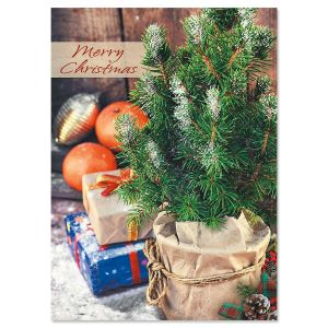 Winter Celebration Nonpersonalized Christmas Cards - Set of 18