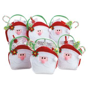 Santa Face Treat Bags