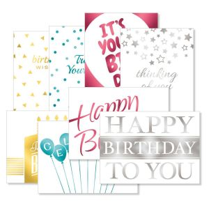 Contemporary Foil Deluxe Birthday Value Pack