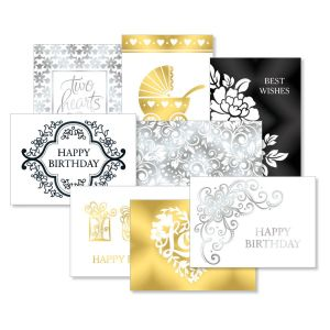 Deluxe Filigree Foil All-Occasion Card Value Pack