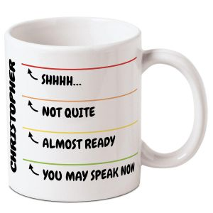 Levels of Awake Personalized Mug