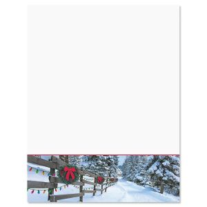 Forest Lane Christmas Letter Papers
