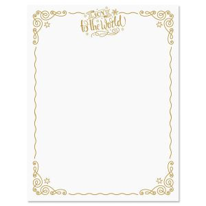Joy To The World Christmas Letter Papers