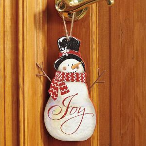 Wooden Snowman Wall Decoration