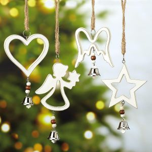 Wood Ornaments with Bells