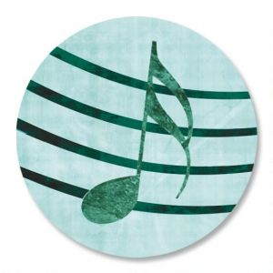 Sheet Music Aqua Envelope Seals