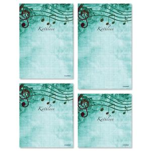 Sheet Music Aqua Notepad Set