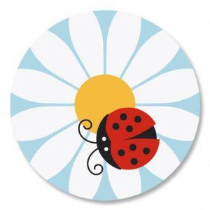 Ladybug Daisy Envelope Seals