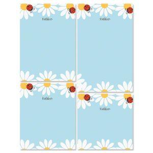Ladybug Daisy Notepad Set