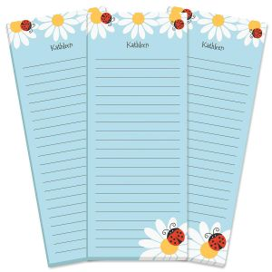 Ladybug Daisy Lined Shopping List Pads