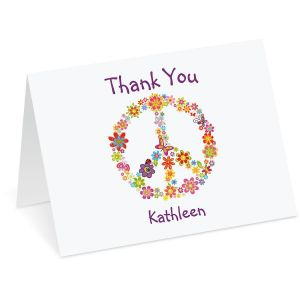 Peace Sign Thank You Note Cards