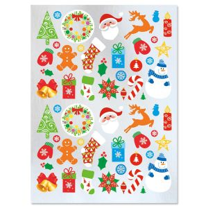 Christmas Foil Shapes Stickers