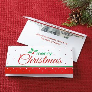 Foil Merry Christmas Cash Card Holders