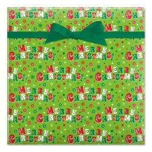 Jolly Christmas Jumbo Rolled Gift Wrap