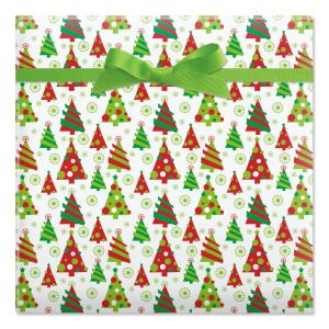 Graphic Christmas Tree Jumbo Rolled Gift Wrap