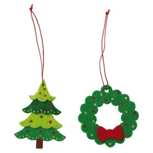 Felt Tree & Wreath Package Toppers