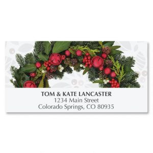 Photo Wreath Deluxe Address Labels