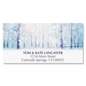 Winter Forest Deluxe Address Labels