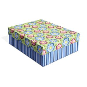 Colorful Flowers Desk Organizer Box