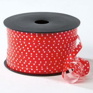 Red Polka Dots Christmas Curling Ribbon