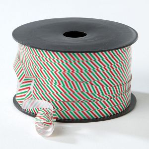 Red & Green Stripes Christmas Curling Ribbon - BOGO