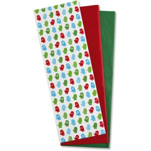 Colorful Mittens Tissue Sheets - BOGO
