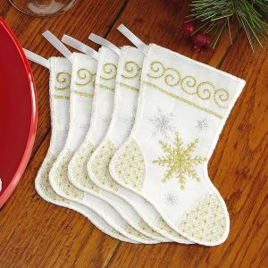 Gold & Silver Mini Stocking Treat Bags