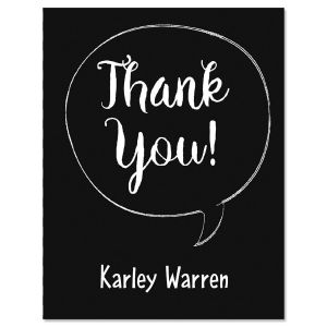 Chalkboard Graduation Thank You Note Cards