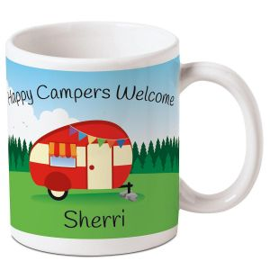 Happy Camper Personalized Mug