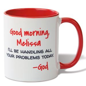 Good Morning Personalized Mug