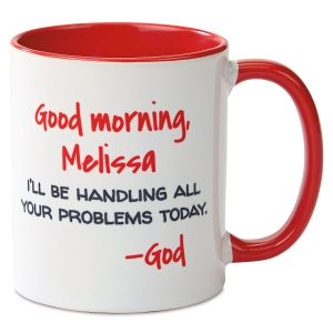 Good Morning Personalized Red Mug