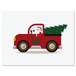 Santa's Truck Note Cards