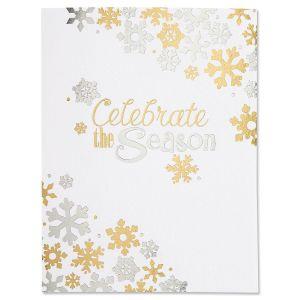 Celebrate the Season Foil Note Cards