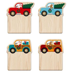 Christmas Trucks Sticky Notes