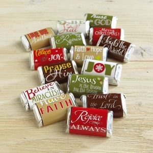 Faith Holiday-Themed Candy Bar Wrappers